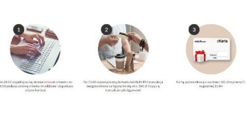 trzy okrągłe zdjęcia przedstawiające jak zdobyć bon do empik.com