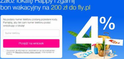 Szczęśliwych wakacji czas – 200 zł bonusu z Lokatą Happy od Idea Banku
