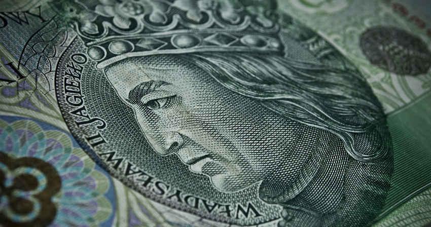zbliżenie na banknot 100 zł