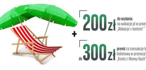 leżak i dwie parasolki promocja BGŻ BNP Paribas