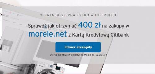 reklama promocji związanej z kartą kredytową Citibank