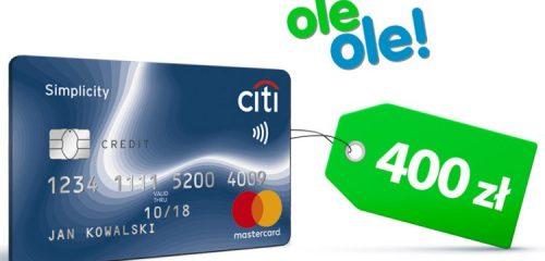 Citibank: 400 zł do oleole.pl z darmową kartą Citi Simplicity