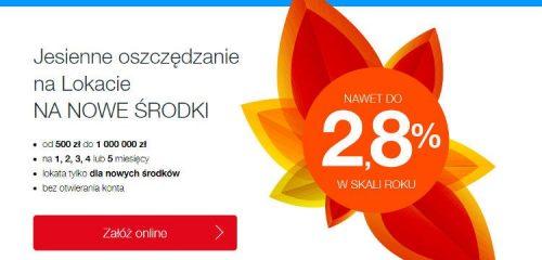 idea bank reklama lokaty czerwono pomarańczowy kwiat na białym tle