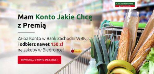 BZ WBK: nawet 150 zł na zakupy w Biedronce za założenie konta osobistego
