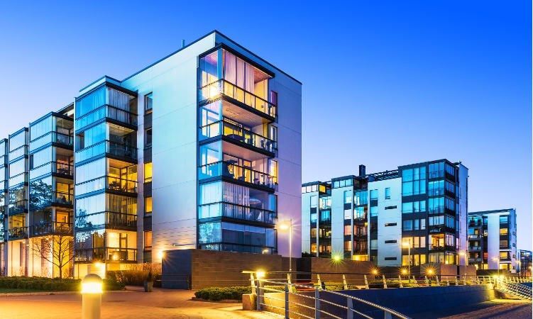 nowoczesne bloki mieszkalne