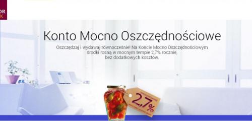 Alior Bank: 2,7% na Koncie Mocno Oszczędnościowym do 100.000 zł