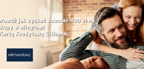 Citibank: 400 zł na Allegro.pl z kartą Citi Simplicity