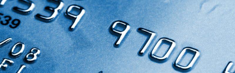 zbliżenie na dane karty kredytowej