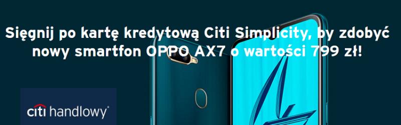 smartfon oppo z niebieskim ekranem na ciemnym tle