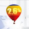 balon z symbolem oprocentowania konta oszczędnościowego