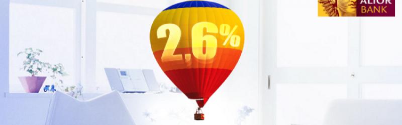 balon z symbolem oprocentowania