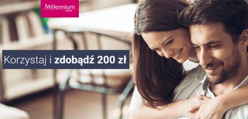 Bank Millennium: Korzystaj i zdobądź 200 zł za konto osobiste i niewielką aktywność