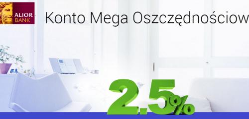 Alior Bank: do 2,5% na Koncie Mega Oszczędnościowym dla kwot do 100 tys. zł