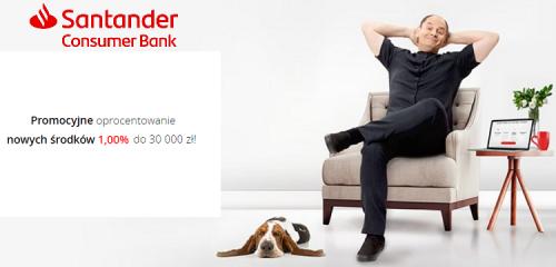 Santander Consumer Bank: nawet 1% na Rachunku Oszczędnościowym
