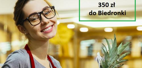 BNP Paribas: 350 zł do Biedronki za darmowe Konto Otwarte na Ciebie
