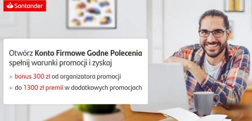 Santander Bank Polska: 300 zł na start dla klientów firmowych + 2 lata bez opłat za konto