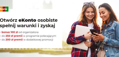 mBank: 100 zł na start + 200 zł za aktywność i nawet 250 zł w programie poleceń