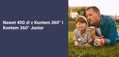 Bank Millennium: 250 zł dla dorosłego za Konto 360° i 150 dla dziecka za Konto 360° Junior