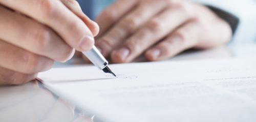 osoba podpisująca umowę